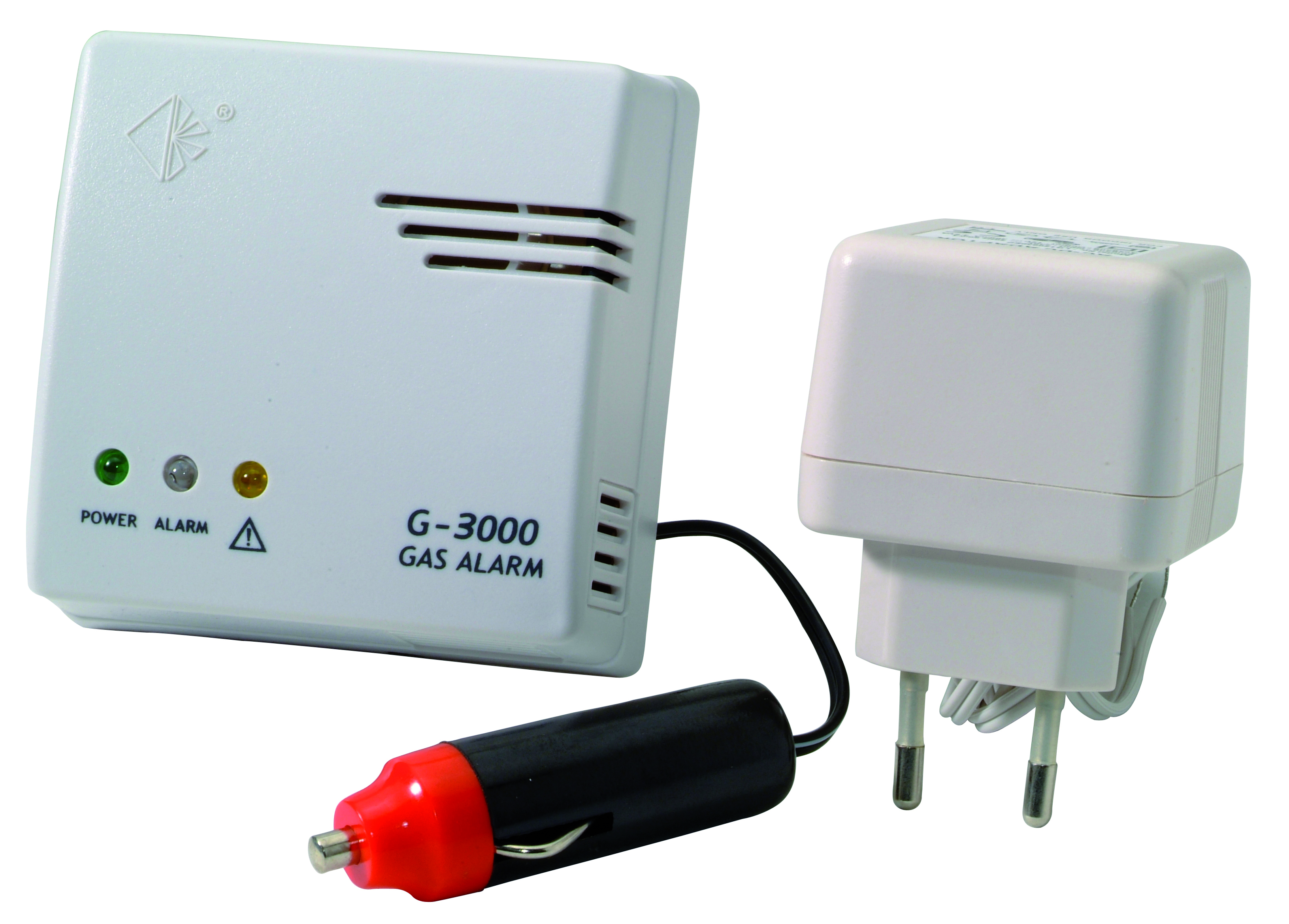 Gas alarm 230V+car adapter 3Y