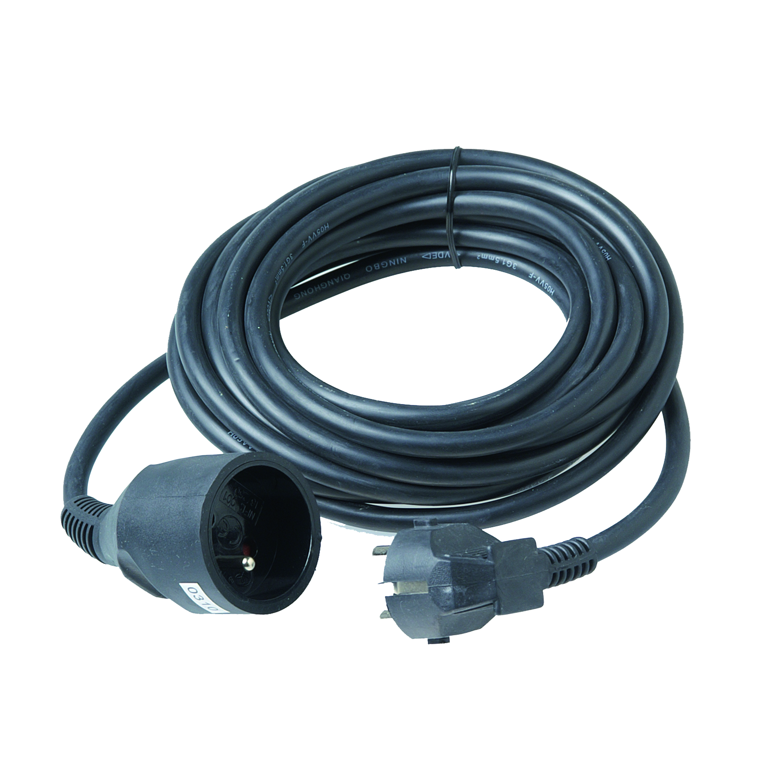 Extension cord 3G1,5mm² PVC 5m black