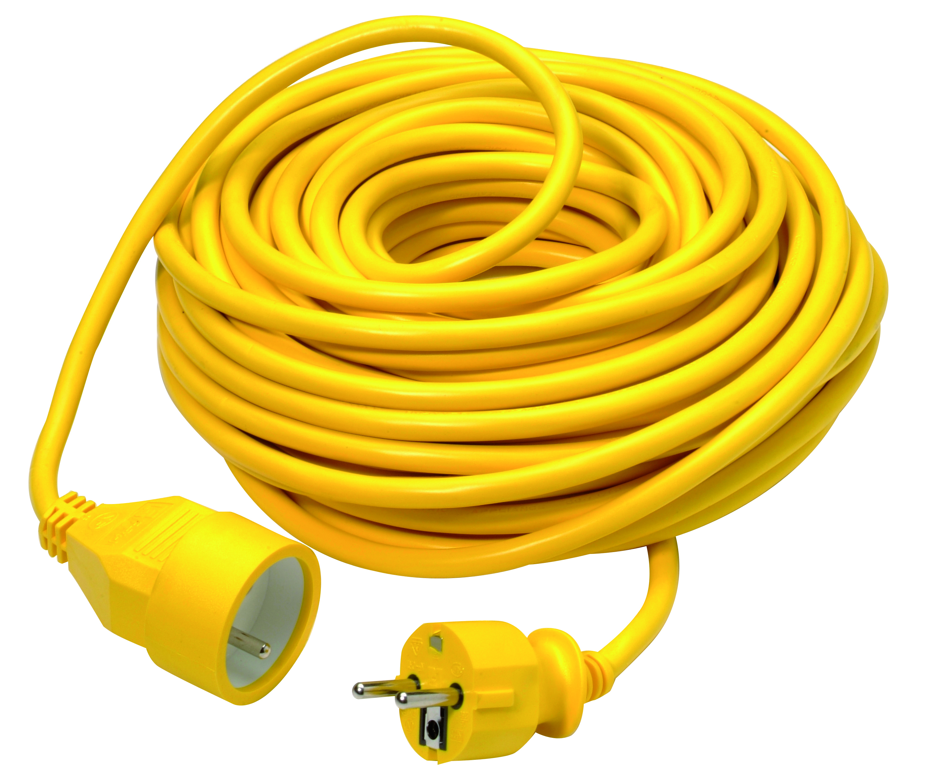 Extension cord 3G1,5mm² PVC 20m yellow