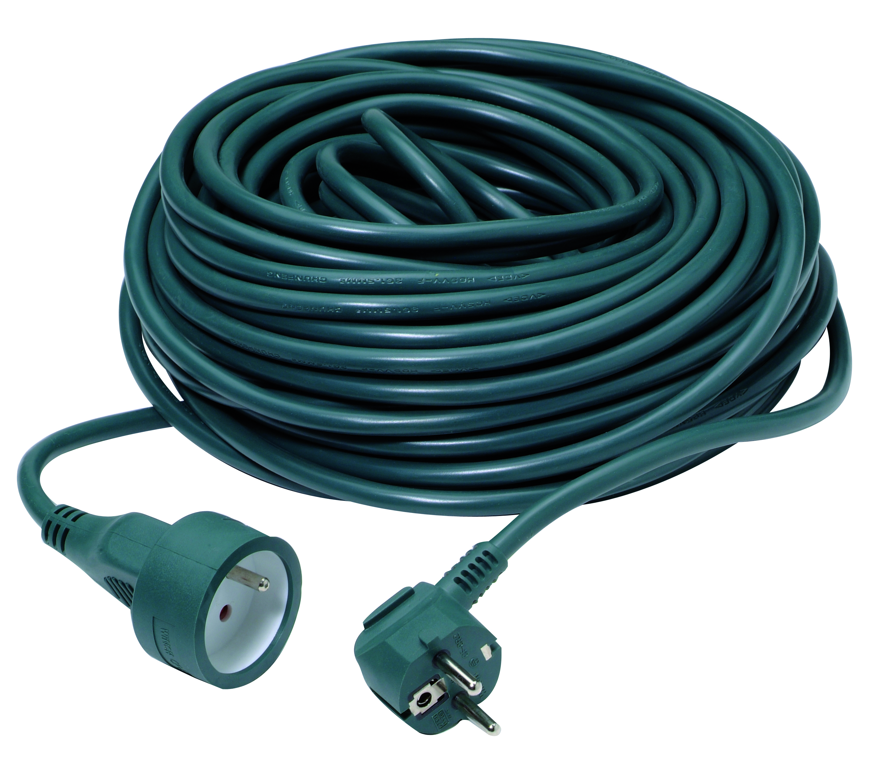Extension cord 3G1,5mm² PVC 30m green