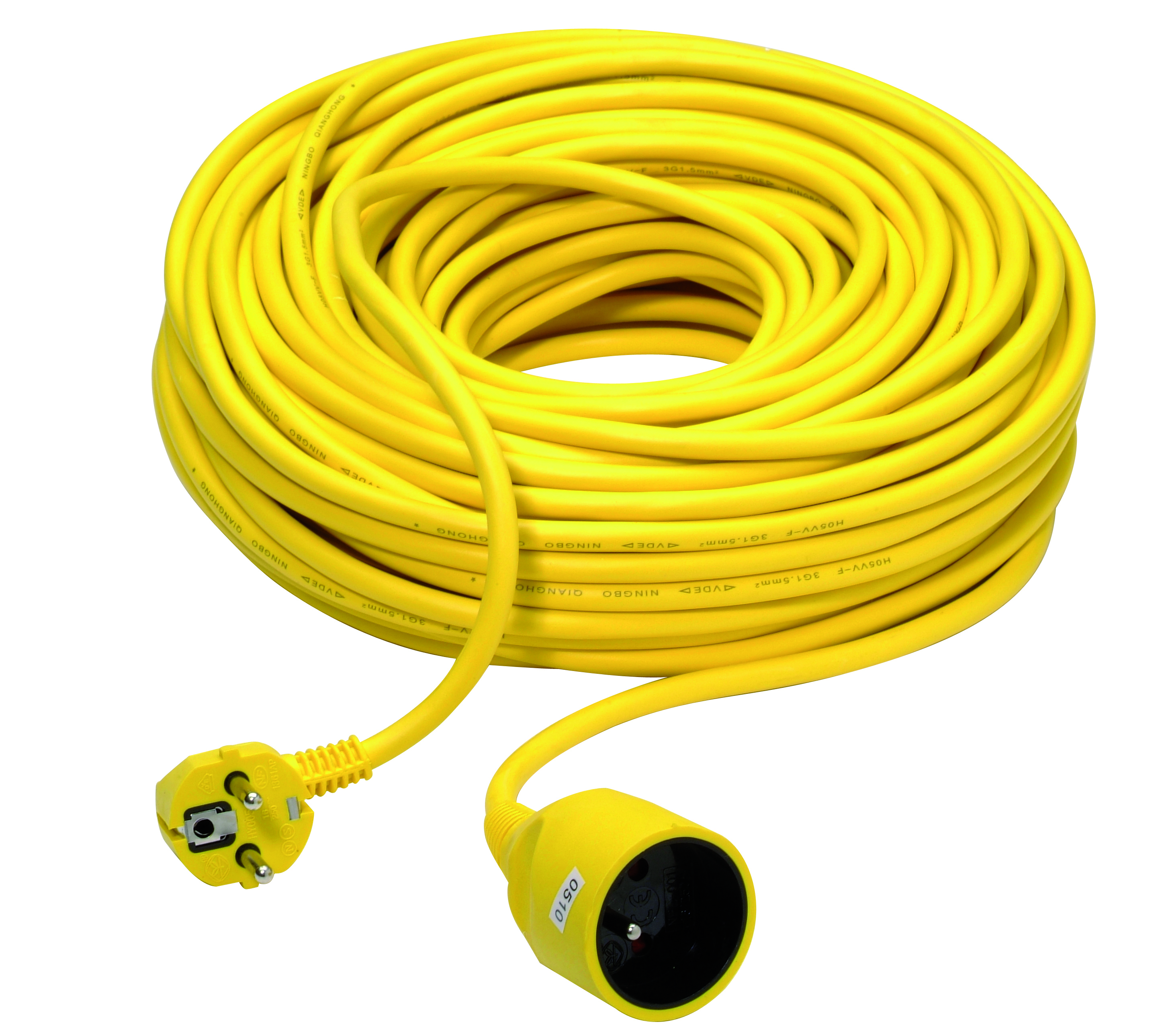 Extension cord 3G1,5mm² PVC 40m yellow