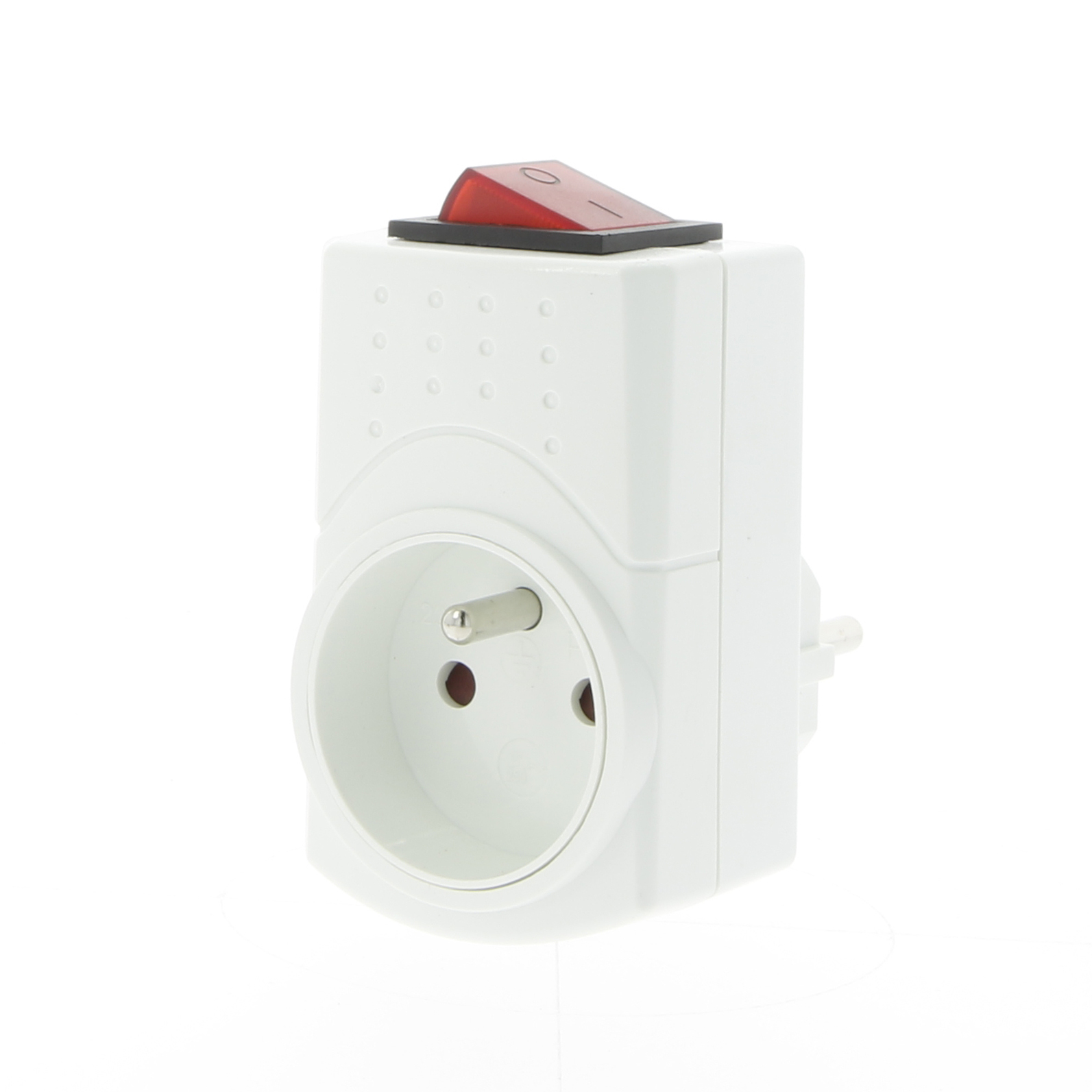 Socket with switch 3680W white