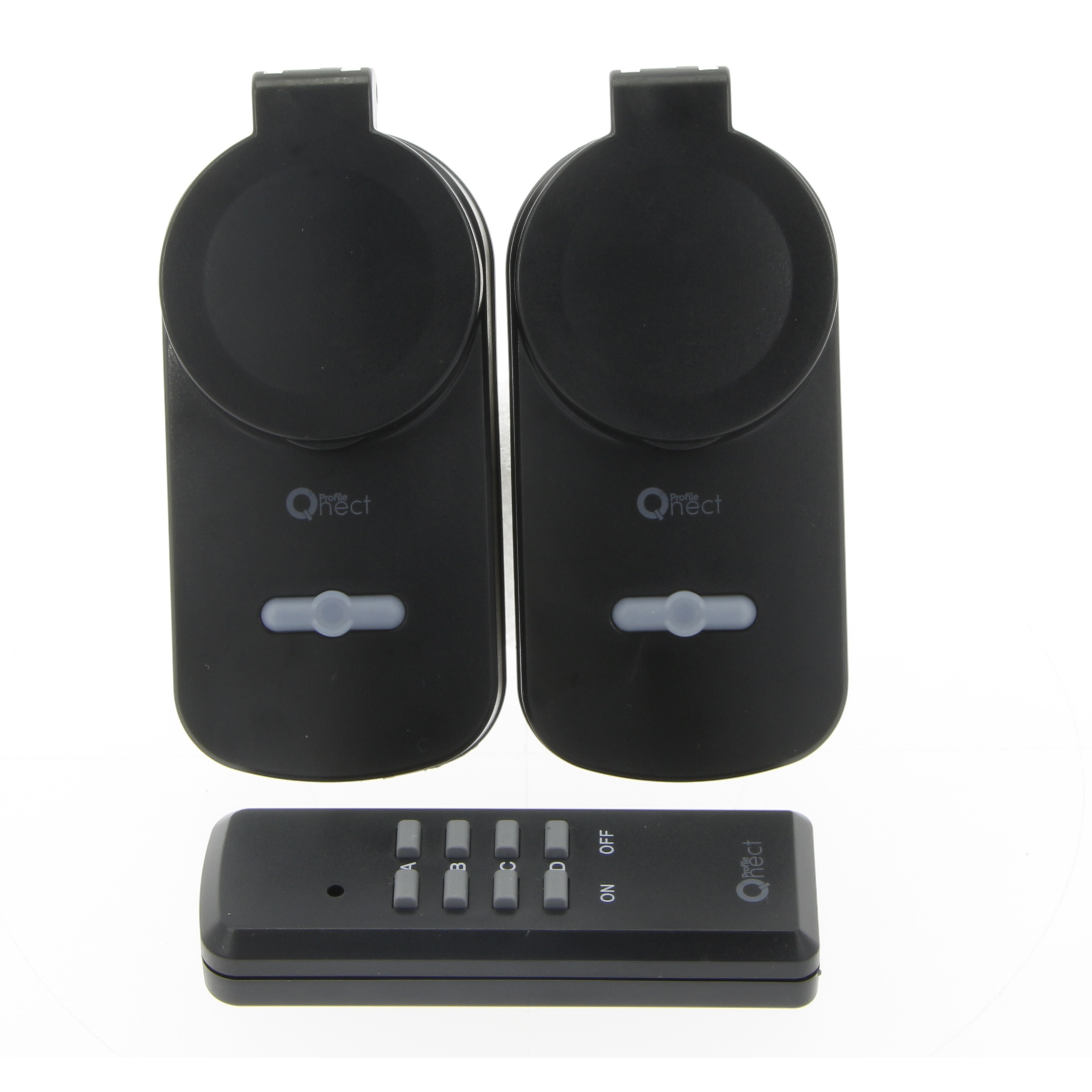 Set of 2 RF sockets with remote control 3680W IP44