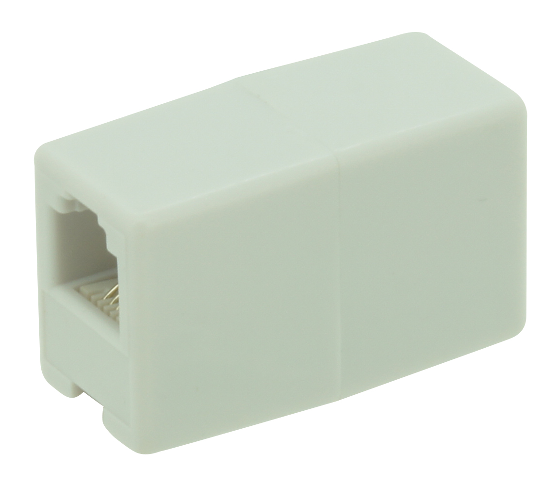 RJ11 counterplug 6P4C white