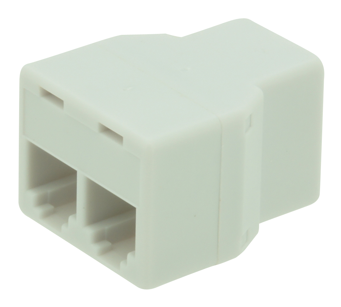 3 way RJ11 domino (female-female-female) 6P6C