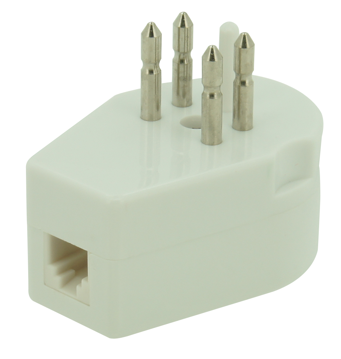 Transit and adaptor plug for telephone