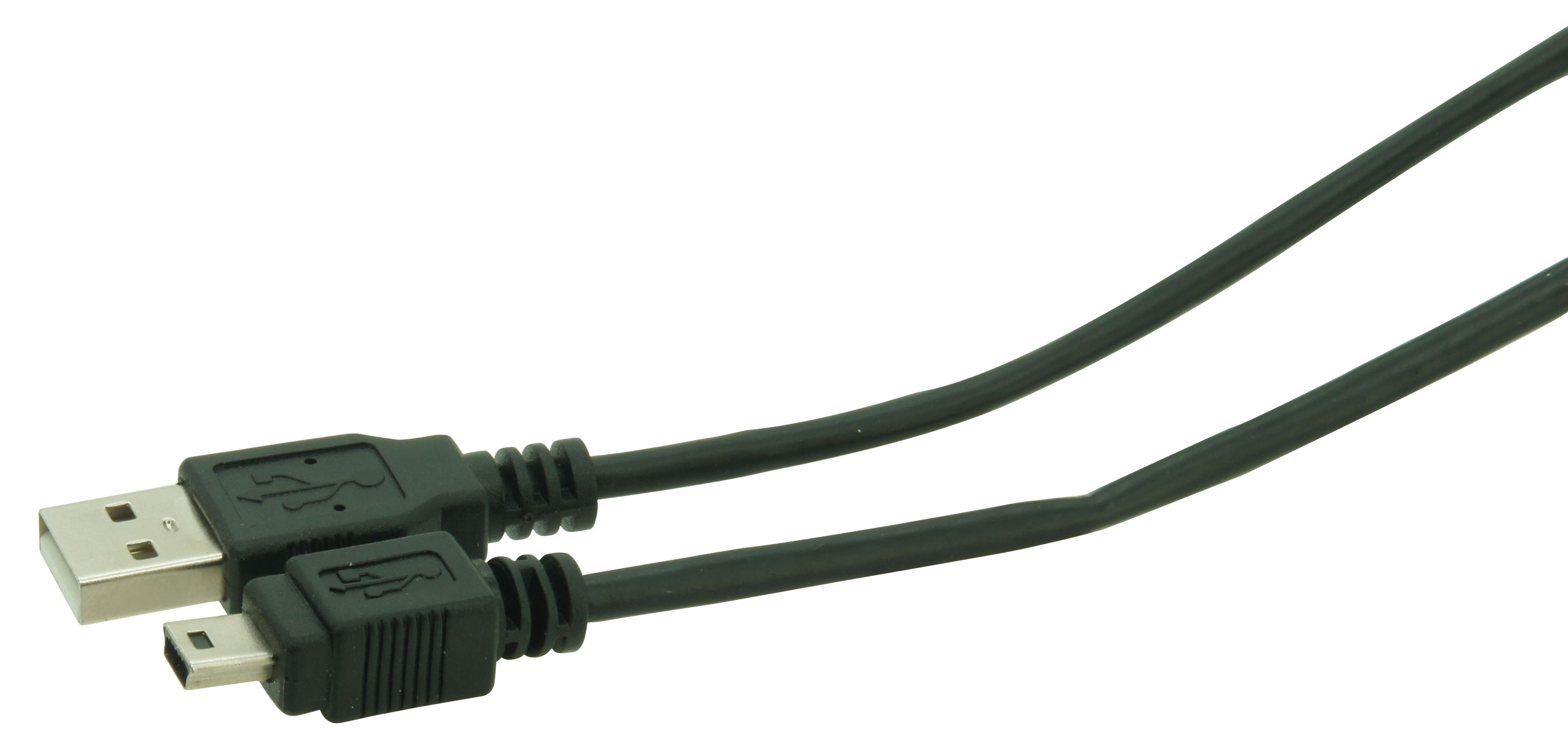 USB cord male(A) > male (B) mini 2m