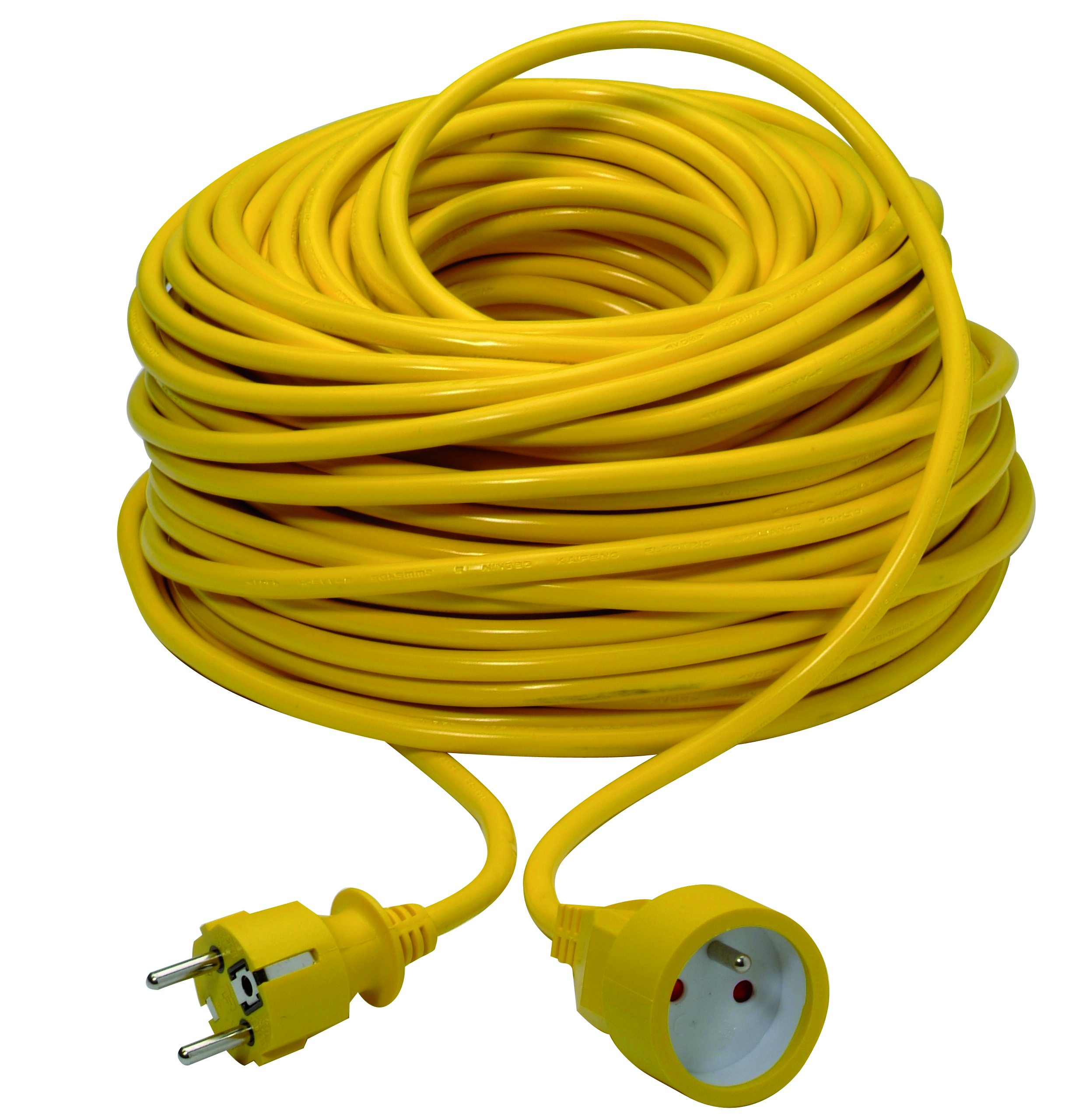 Extension cord 3G1,5mm² PVC 50m yellow