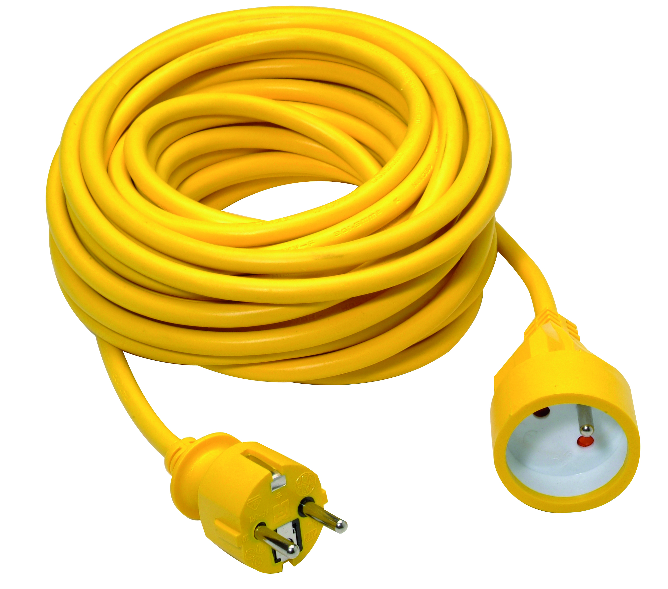 Extension cord 3G1,5mm² PVC 10m yellow