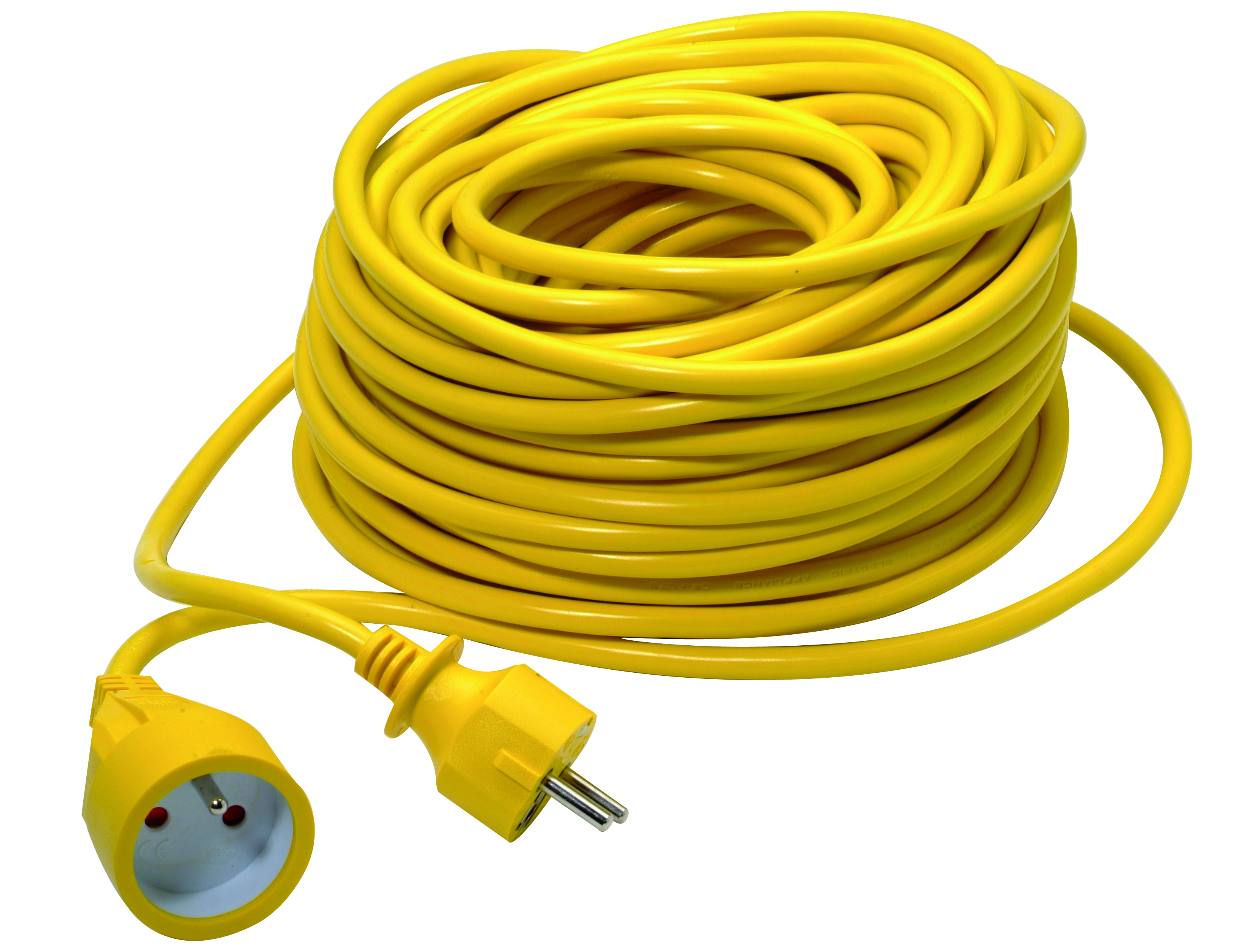 Extension cord 3G1,5mm² PVC 30m yellow